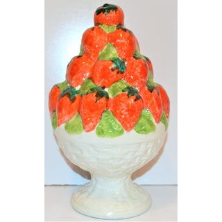 Vintage Ceramic Strawberry Topiary Tower Preview