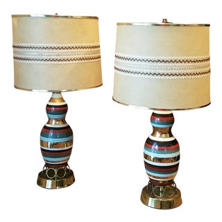 Vintage Table Lamps & Shades - a Pair