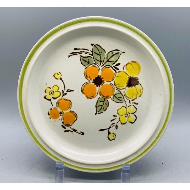 1970s Vintage Country Mismatched Salad Plates - Set of 5 For Sale - Image 5 of 12
