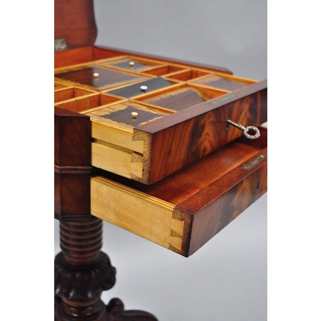 Antique Victorian Sewing Stand Side Table For Sale - Image 4 of 12