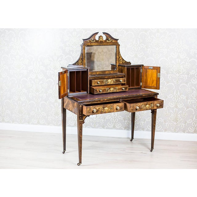 19th Century Lady's Desk Veneered with Rosewood For Sale - Image 10 of 13