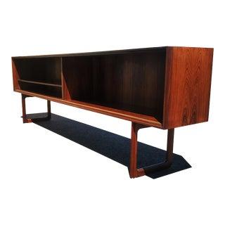 Danish Modern Rosewood J Clausen Brande Mobelfabrik Sideboard / Bookcase For Sale
