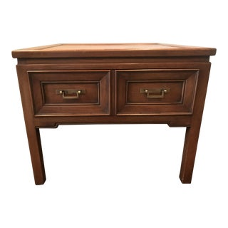 Hekman Walnut Asian Style Mid-Century Accent Table For Sale