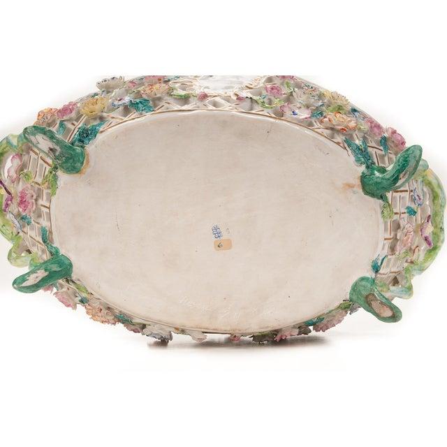 Herend Antique 16' Porcelain Centerpiece - Image 9 of 10