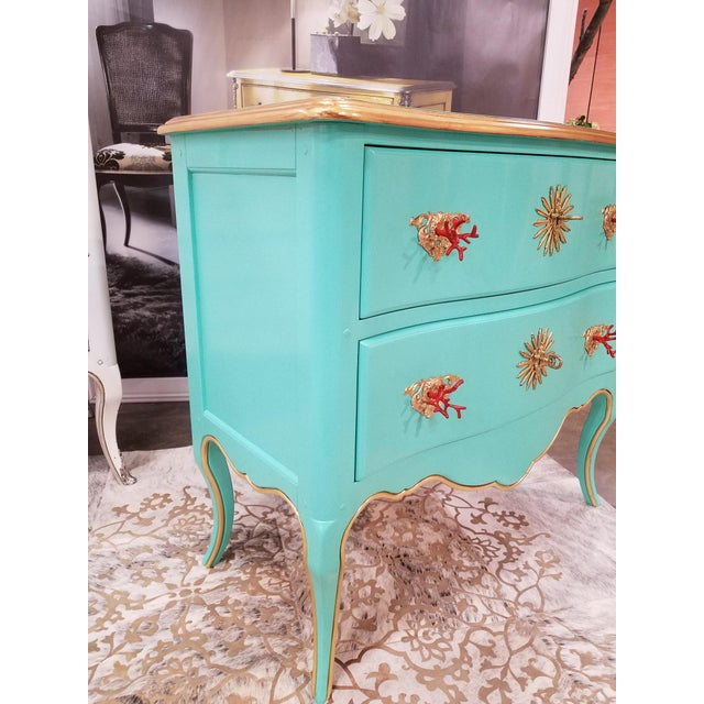 Boho Chic Italian Solid Cherry Chest of Drawers / Console For Sale - Image 3 of 10