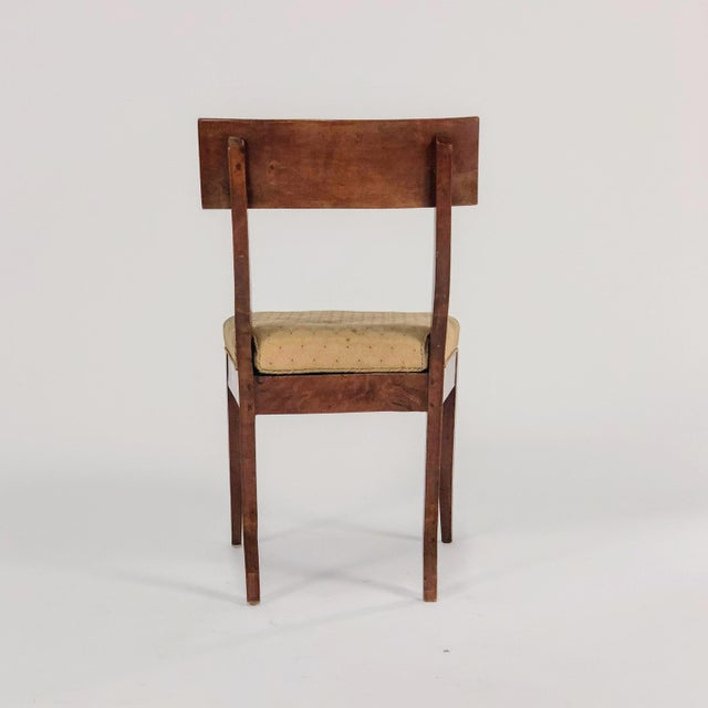 Early 19th Century 19th Century Traditional Klismos Birch Dining Chairs - Set of 5 For Sale - Image 5 of 8