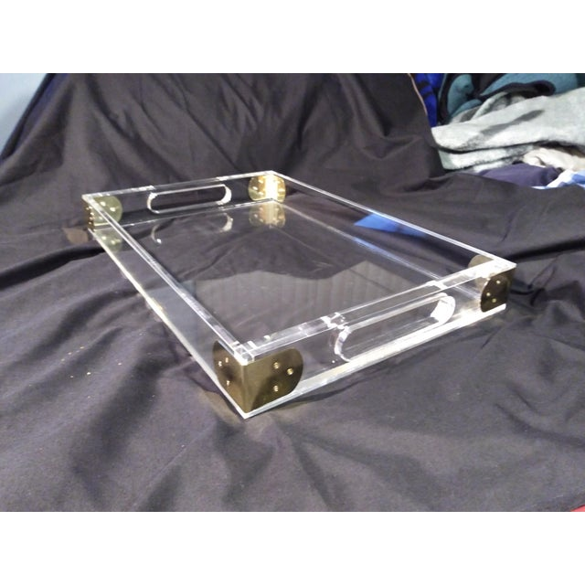 1970's Jonathan Adler Minimalist Lucite Trays For Sale - Image 9 of 10
