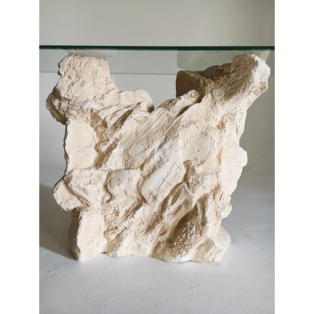 Sirmos Sirmos Quarry Style Plaster Console Table For Sale - Image 4 of 8