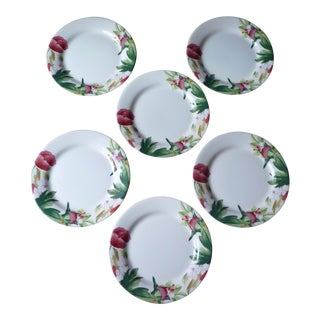 Gien France Volupte Dinner Plates - Set of 6 For Sale