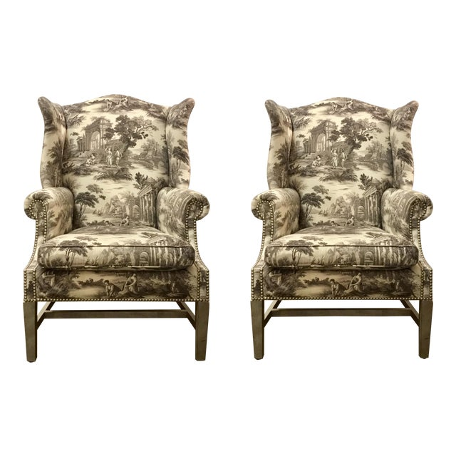 Currey & Co. Kingswood Chairs - A Pair For Sale