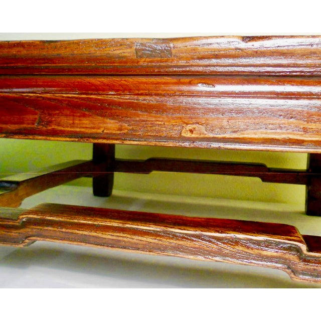 """Antique Elmwood Chinese Ming """"Kang""""/Coffee Table For Sale In Dallas - Image 6 of 9"""