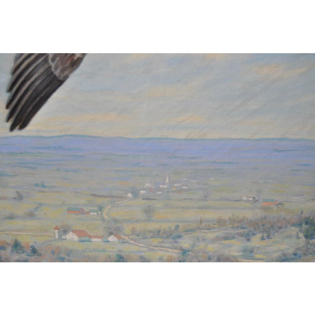 """""""Geese in Flight"""" Original Oil Painting For Sale - Image 5 of 8"""