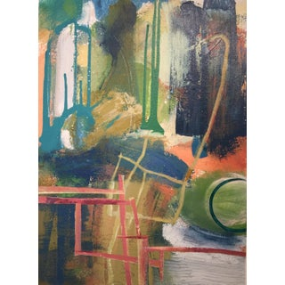 "Denmark Contemporary Blue Abstract ""Afuera, Adentro 2"" For Sale"