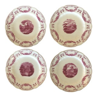 Minton - Gilman Collamore & Co. Transferware Plates - Set of 10 For Sale