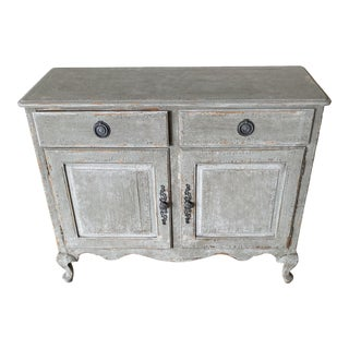 Vintage Louis Style 2 Drawer Custom Storage Cabinet For Sale