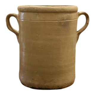 19th Century Italian Glazed Terracotta Olive Jar For Sale