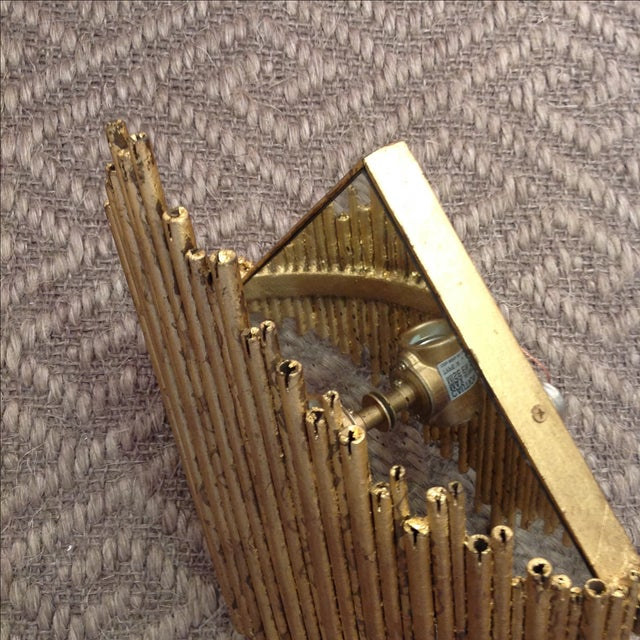 Arteriors Home Gold Wall Sconce - Image 4 of 7