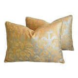 """Image of Italian Mariano Fortuny Lucrezia Feather/Down Pillows 24"""" X 18"""" - Pair For Sale"""
