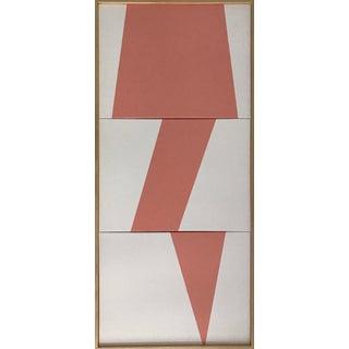 "Jason Trotter Original Acrylic Painting ""Pink Jagged Triptych Jet0456"""
