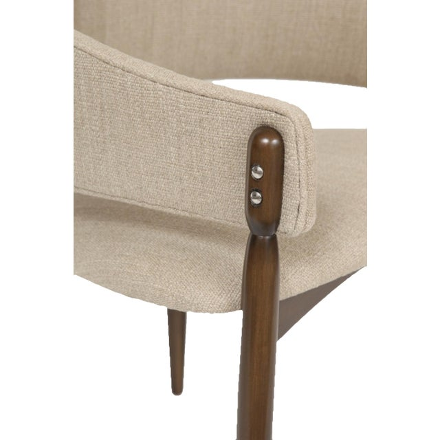 Mid-Century Modern Customizable Set of Six Enroth Dining Chairs For Sale - Image 3 of 5