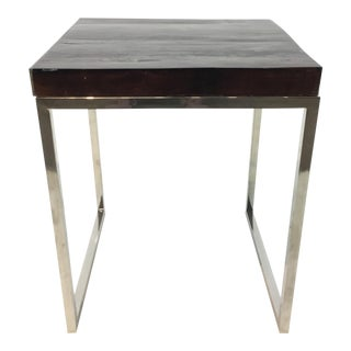 Interlude Home Organic Modern Railwood Resin End Table For Sale