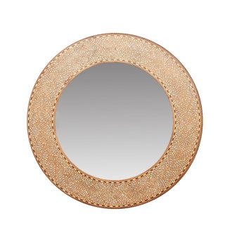 Pattee Foliage Bone Inlay Mirror For Sale