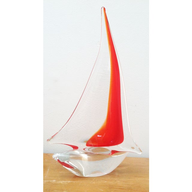 Vintage Murano Glass Sailboat - Image 2 of 5