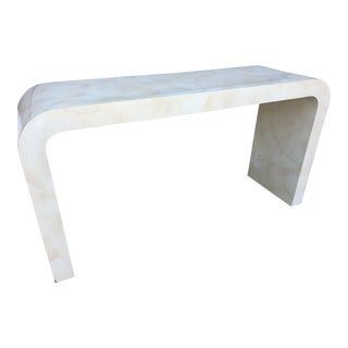 1980s Contemporary Goat Skin Waterfall Console Table For Sale