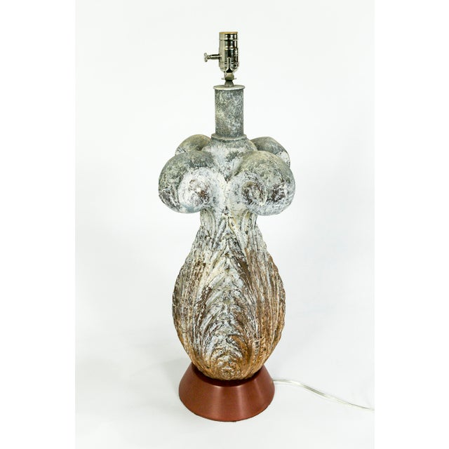 Mid 19th Century 19th Century Balustrade Architectural Element Lamp With Unique Patina For Sale - Image 5 of 10
