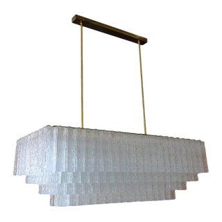 1960s Vistosi Mid-Century Modern Chandelier For Sale