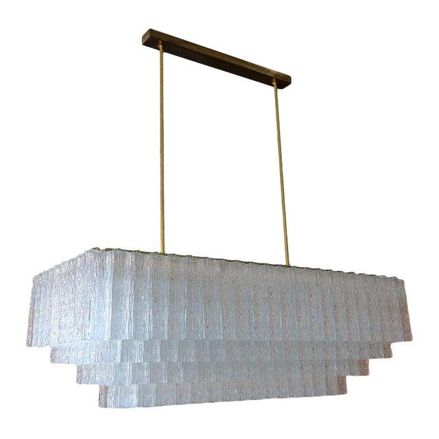 1960s Vistosi Mid Century Modern, Mid Century Modern Rectangular Chandelier