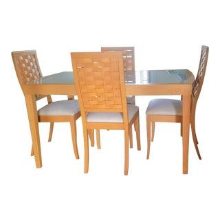Italian Calligaris Beechwood Contemporary Dining Set For Sale