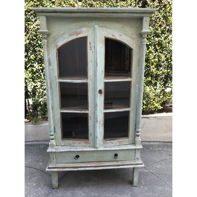 Green Shabby Chic Cabinet - Image 2 of 11