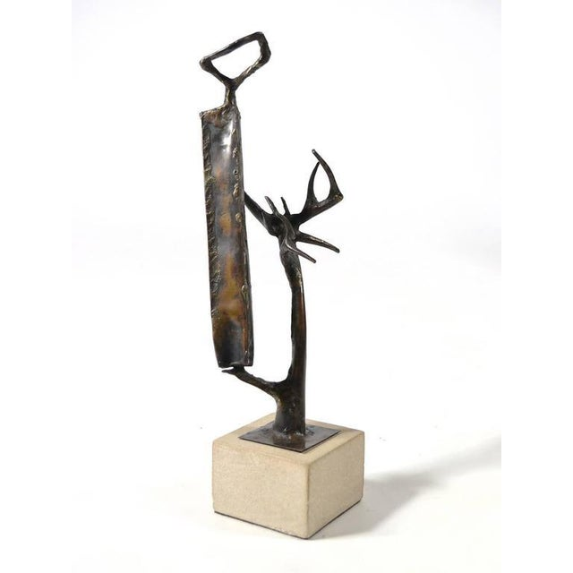 Abstract Bronze Sculpture by Clyde Ball For Sale - Image 11 of 11