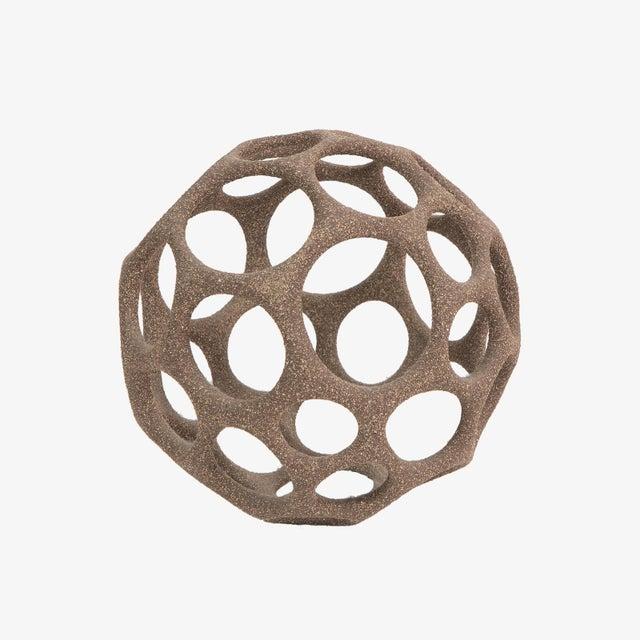 Modern Pamela Sunday Stoneware Cellular Sphere For Sale - Image 3 of 3