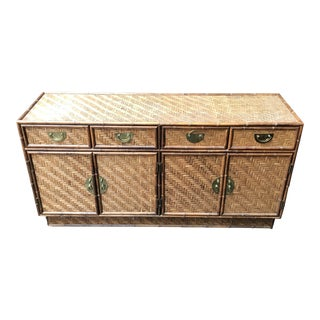 Bamboo and Rattan Credenza