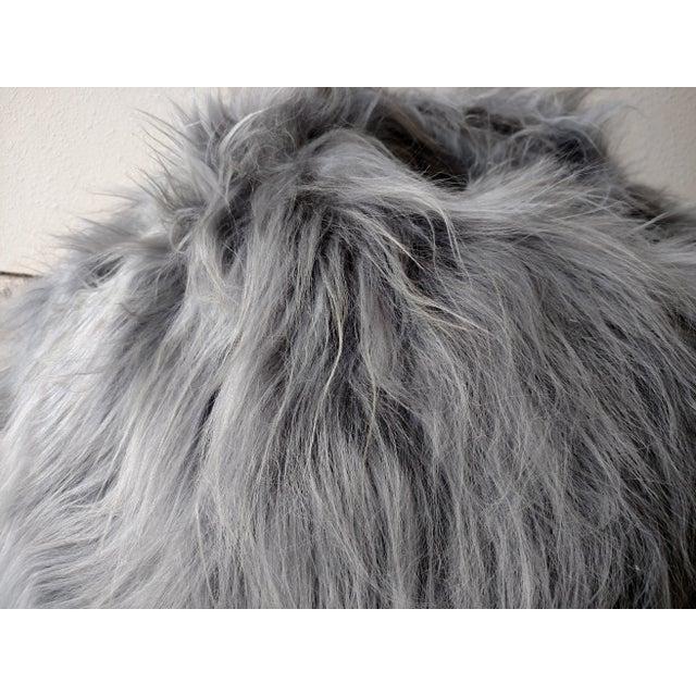 Moon Gray Sheepskin Bean Bag Chair - Image 5 of 7