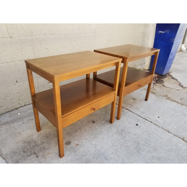 1950s Paul McCobb Side Tables / Nightstands - a Pair For Sale - Image 5 of 8