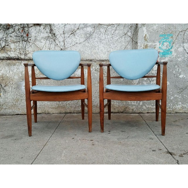 Mount Airy Finn Juhl-Style Vintage Chairs - A Pair - Image 2 of 7