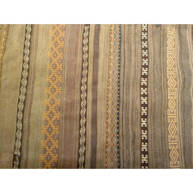 Textile Early 1900s Uzbek Kilim Rug - 5′ × 8′ For Sale - Image 7 of 13