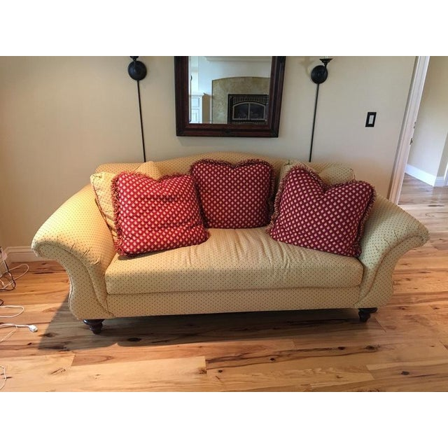 Calico Corners Custom Single Cushion Sofa & Pillows - Image 2 of 6