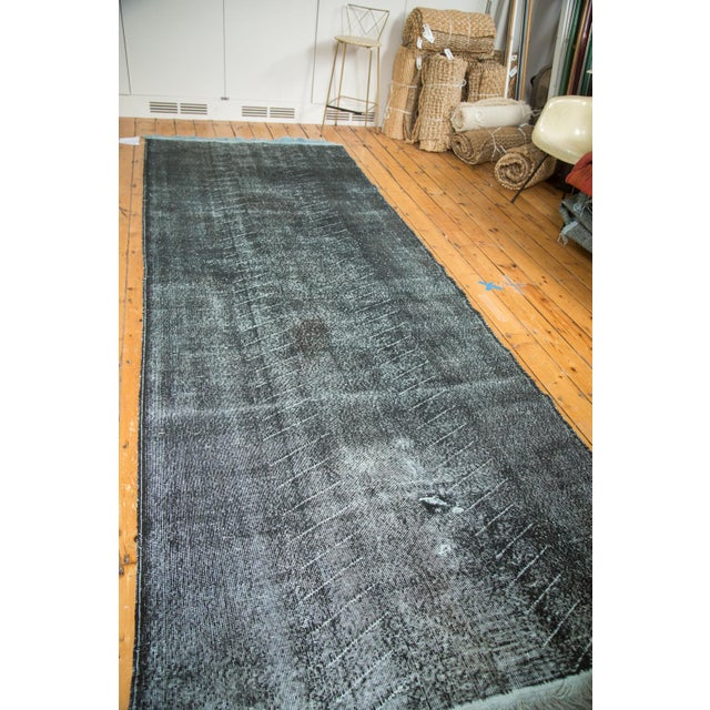 """Vintage Overdyed Distressed Runner - 4'8"""" x 12'6"""" - Image 3 of 9"""