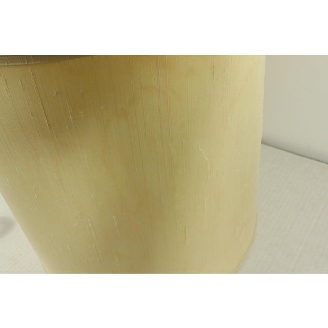 1960s Mid Century Modern Brass Wood Glass Stiffel Regency Table Lamp Light For Sale - Image 11 of 12