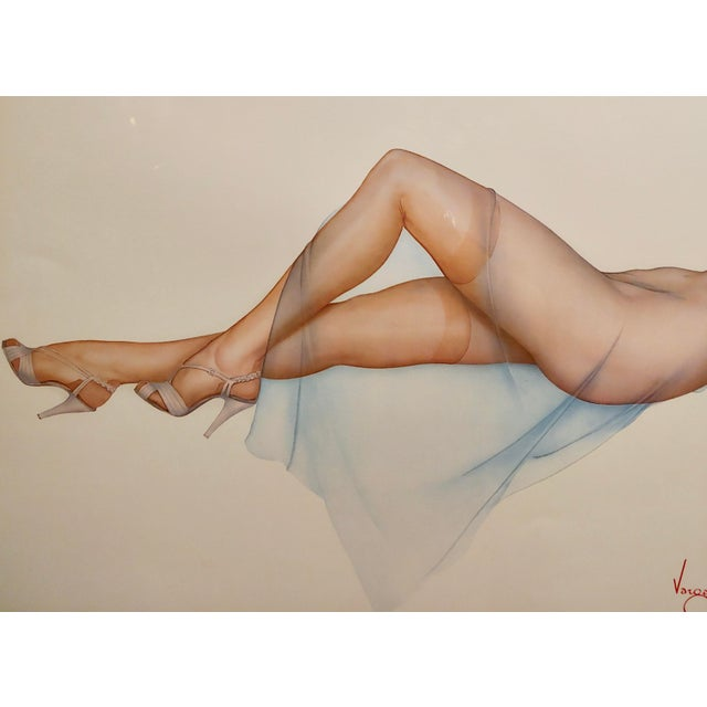 1980s Alberto Vargas -Sweet Dreams-Beautiful Pin-Up Limited Edition Lithograph For Sale - Image 5 of 10