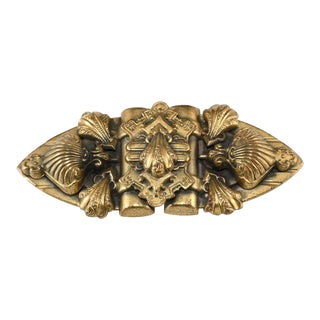 Victorian Revival 1930s Baroque Shell Motif Brooch Pin Vintage For Sale