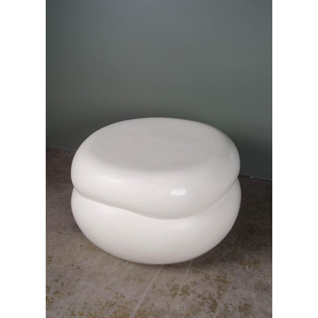 Contemporary Persimmon Drumstool For Sale - Image 3 of 3