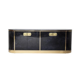 Mastercraft Credenza in a High Luster Malachite Lacquer Finish For Sale