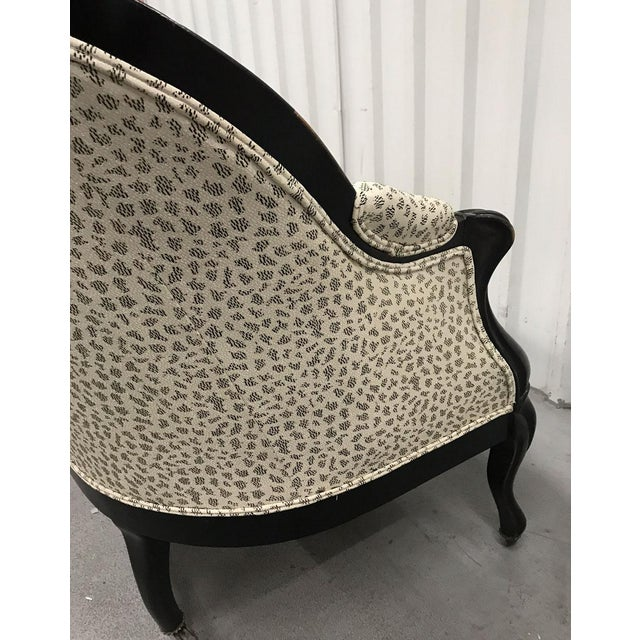 Antique Settee With Contemporary Upholstery For Sale - Image 4 of 12