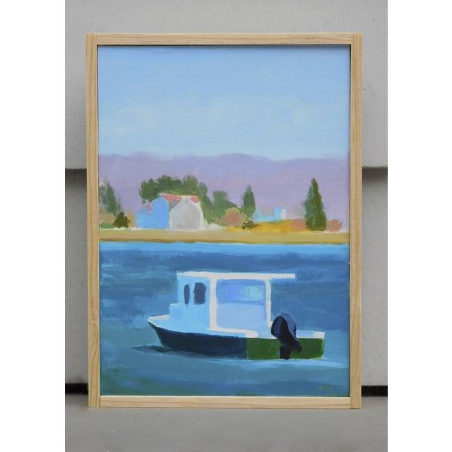 """Harbor"" Original Acrylic Painting on Panel - Image 2 of 4"