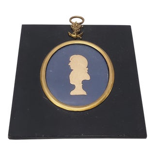Early 19th Century Raised Relief Silhouette Portrait of Lord Nelson C.1805 For Sale